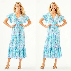 EUC Lilly Pulitzer Jessi Midi Dress Size Medium